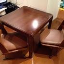 ダイニングテーブルセット こたつテーブル&椅子2脚