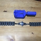 22mm 時計ベルト ステンレス 交換用(交換用補助具付き)