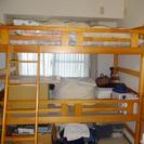 高さのある二段ベッドです