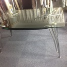 ガラステーブル、椅子4客セット