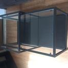 スライド式ガラスローテーブル