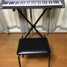 CASIO 電子キーボード(譜面フック、台、椅子全てセット)