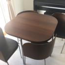 【値下げ中】美品 IKEA ダイニングテーブルセットFUSION