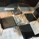 ガラス ダイニングセット 椅子4脚