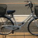 商談中ママチャリ 26インチ 自転車 白 カゴ付き
