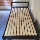 無印良品 シングルベッド/タモ材 ベッドフレーム