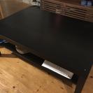木製黒テーブル