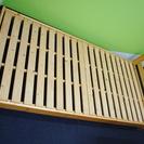=無料中古家具= シングルサイズ 木製ベッドフレーム 簡易清掃済み