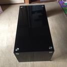 高級ブラック強化ガラステーブル(^_^)