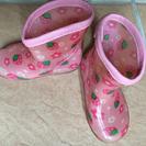 ✨13.0👢いちご柄の長靴①✨