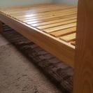 セミダブル 木製ベッド