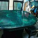 翡翠柄ダイニングテーブル