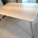 【ほぼ新品】IKEA 北欧デザインのおしゃれなダイニングテーブル