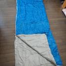 美品 寝袋 ブルー ベッド アウトドア キャンプ  寝具