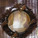 値下げ❕昭和レトロな壁掛けの鏡!