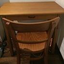机、椅子のセット 椅子はUNICOです。