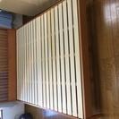 木製高級ベッドフレーム(クイーンサイズ)