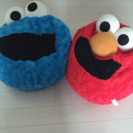 エルモ&クッキーモンスタークッション