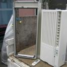 窓用エアコン 枠とリモコン付 別途 有料で配達と取り付けOK(愛知...