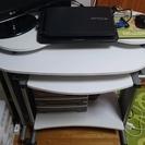スライドテーブル付パソコンデスク(白)