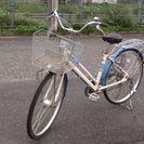 3段変速カゴ付き自転車、ライトも予備キーもついてます!