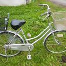 24インチ買い物用自転車 全カバーチェーン チャイルドシート付き