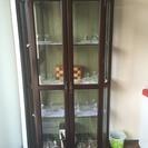 Domani ガラス飾り棚、中古、売ります