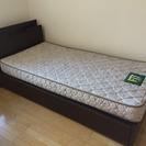収納・コンセント付きシングルベッド※マットレス込み