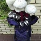 値下!ゴルフ女性用中古クラブセットとお洒落なFilaのキャディバッグ