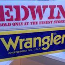 エドウィン ラングラー 非売品 サインボード
