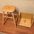 【交渉完了】幼児用の木製椅子