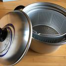 三協水切り網付き鍋   24㎝   未使用