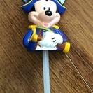 【中古】ミッキーマウス付きストロー