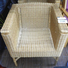 札幌 引き取り 籐製チェア ラタン イス/椅子 一人掛け
