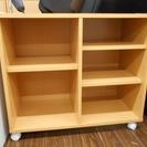 札幌 引き取り キャスター付き 収納棚 押入れ収納 本棚 書棚