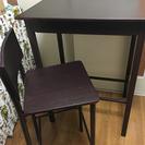 背が高めのカウンターテーブル、椅子二脚無料で譲ります!