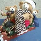 クリスマス 3匹のクマ兄弟のソリ遊び人形