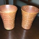 信楽焼き   ペアカップ