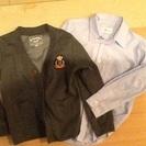 入学式にも 120センチシャツ&カーディガンのセット