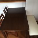 ダイニングテーブルセット 4人掛け 4点