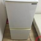 【シャープ 2ドア 冷凍冷蔵庫 SHARP SJ-14R-W 13...