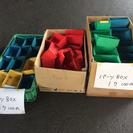 パーツBOX赤青黄緑各1個100円