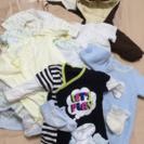 男の子 新生児 赤ちゃん 中古 ベビー服16着+靴下&ミトン 出産準備