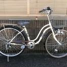 【358】【整備済】軽快車 27インチ シマノ製外装6段ギヤ ダイ...