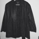 ★紳士レザージャケット 程度良好 牛革 ブラック