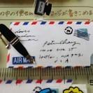 MIDORI ペーパークラフトメッセージカード エアメール柄