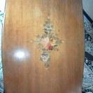 イタリア製 職人さんが手製でつくった象嵌ローテーブル 引き取り限定