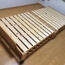 美品 中居木工 すのこベット シングル 檜材 折畳式