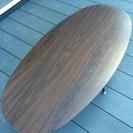 木目調センターテーブル