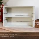 ビンテージ風 アンティーク調 木箱 ホワイト